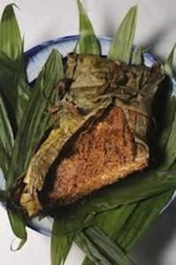 Zacahuil, un enorme tamal como el de cazuela de gallina o pollo