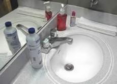 Aplique antibacterial después de lavarlos con jabón