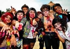 """México ganó el """"Guinness"""" por más gente vestida de zombie."""