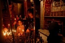 Basílica de la Natividad en Belén se celebra con misa de gallo. Foto El Universal
