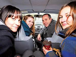 Compartir el carro es ideal pues disminuye la ira.
