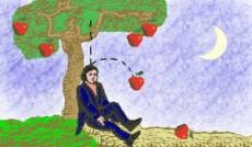 Isaac Newton dedujo la ley de gravitación cuando se cayó una manzana.