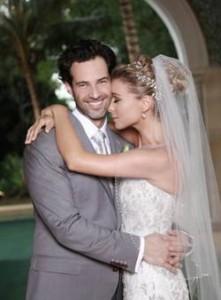 La pareja se vio muy enamorada durante toda la ceremonia y fiesta.