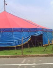 seguridad retiraron a los integrantes de un circo cercano