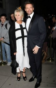 Hugh jack man y Deborra-lee Furness