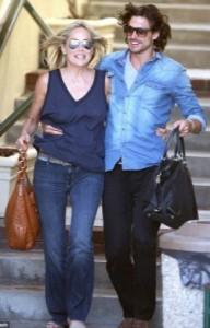 Sharon Stone y Martín Mica