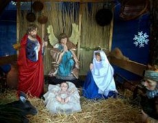Concluidas las oraciones al Niño Dios se entonan algunos villancicos